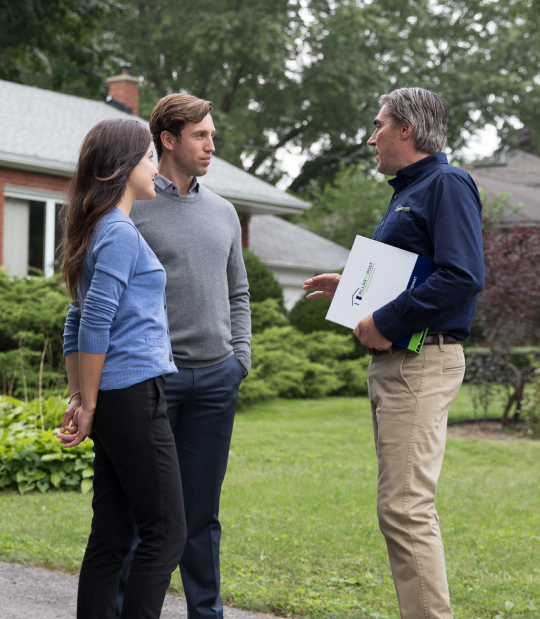 homeowners and home inspector
